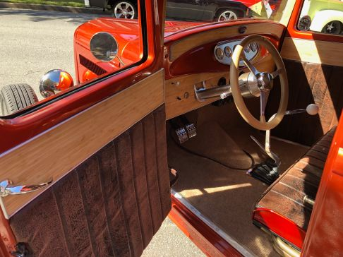 Bamboo trim panels highlight the doors and dash.