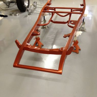 Dupont Hot Hues paint on the frame, Harvest Flame is the color