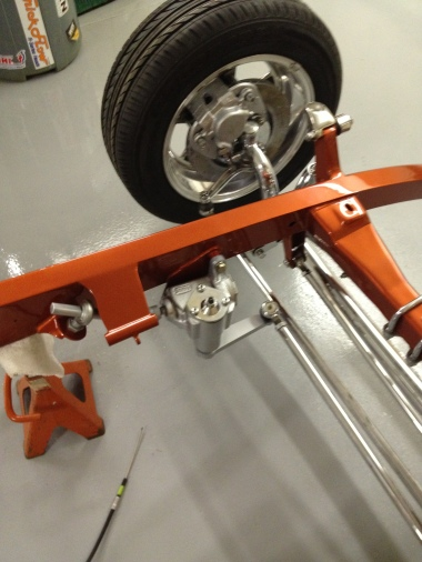 The front suspension is also a four link.