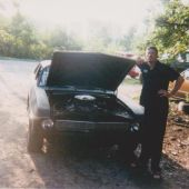 "James and his ""all motor"" Nova that he used to scare the Russell brothers"