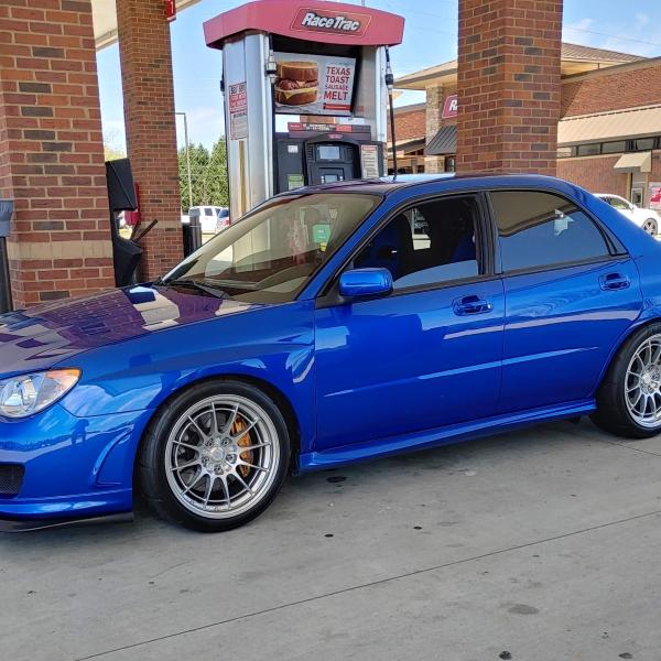 Subaru WRX STI hot rod sports car